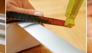 KROK IV - Przycinanie prowadnic moskitiery okna dachowego