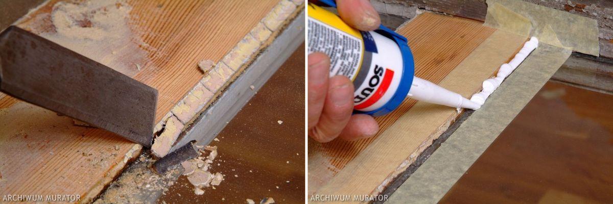 Naprawa spróchniałego drewna